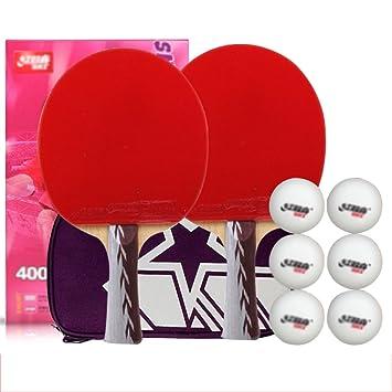 Set de mesa ping pong padel - pack de 2 paletas de premium ...