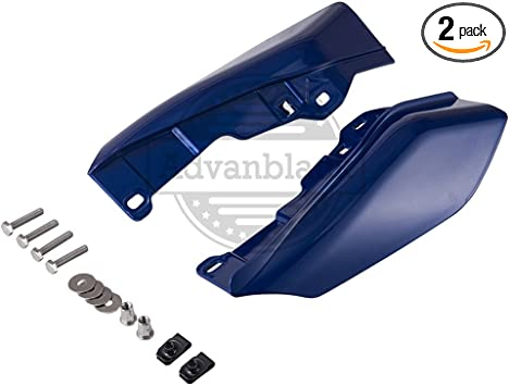 Advanblack Black Pearl Mid-Frame Air Deflectors Heat Shield For 2009-2016 Harley Touring Street Road Electra Glide