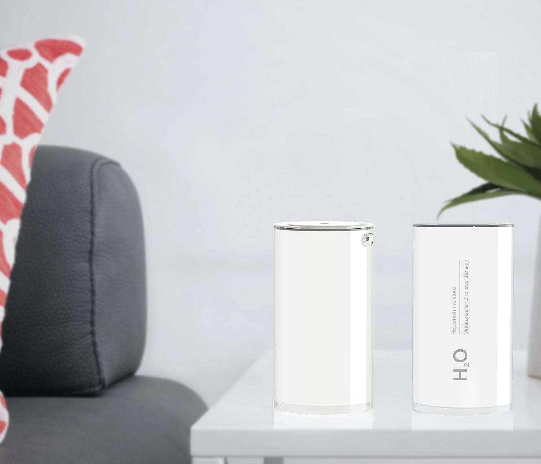 Veilleuse /à intensit/é variable jusqu/à 12 heures Humidificateur dAir Maison B/éb/é 400ml ultrasonique USB Humidificateur pour la Maison Yoga Bureau SPA Chambre,Silencieux 16db Arr/êt Automatique