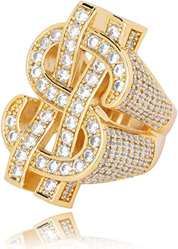 4 band bling ring Size 8 /& 34