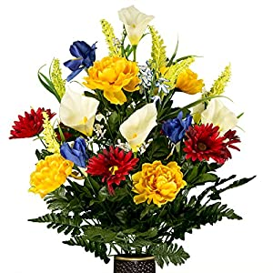 Red Yellow Blue Mix, featuring the Stay-In-The-Vase Design(C) Flower Holder (LG1868) 34