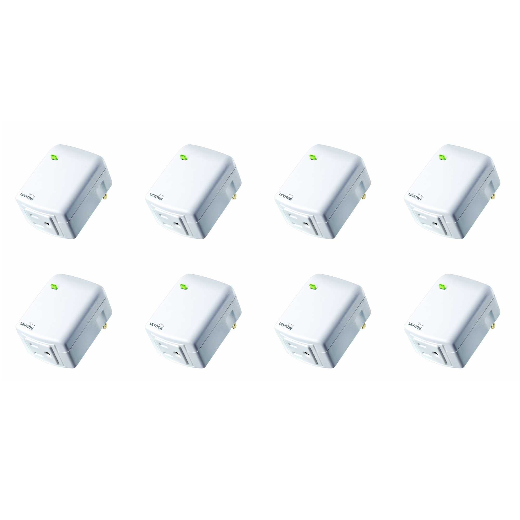 Leviton DW15A-1BW Decora Smart Wi-Fi Plug-in Outlet, Works with Amazon Alexa, No Hub Required (8 Pack) by Leviton (Image #1)