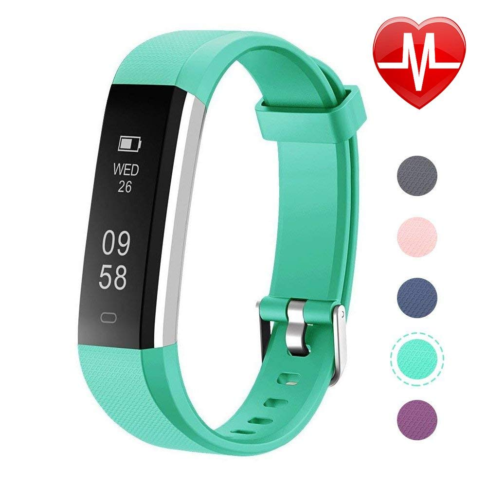 Letsfit Fitness Tracker with Heart Rate Monitor, Slim Activity Tracker Watch, Pedometer, Sleep Monitor, Step Counter, Calorie Counter, Waterproof Smart Band Kids Women Men