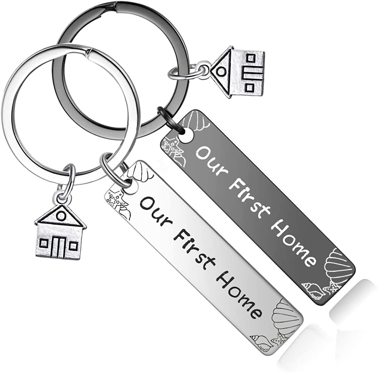 New Home Housewarming Gifts - Our First Home Keychain 2020 Realtor Closing Gift New Home Owners Keyring