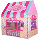 Kid Princess Indoor Outdoor Playtents Ice Cream and Bakery Shop Play Tent,Pink