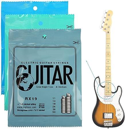 RiToEasysports Cuerdas de Guitarra eléctrica, Cuerdas duraderas de ...