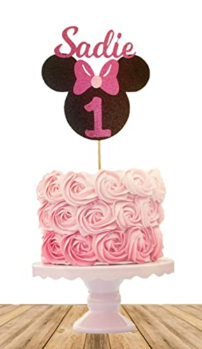 Minnie Mouse Birthday Cake.Minnie Mouse Inspired Birthday Cake Topper