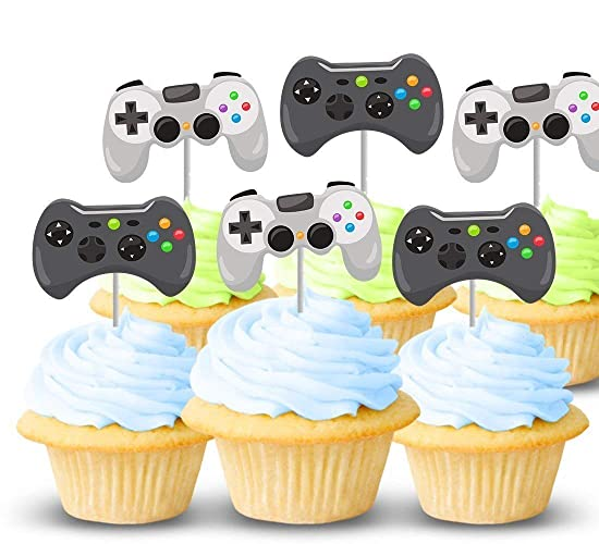 Amazon Com Video Game Controller Cupcake Toppers 12 Ct Boy