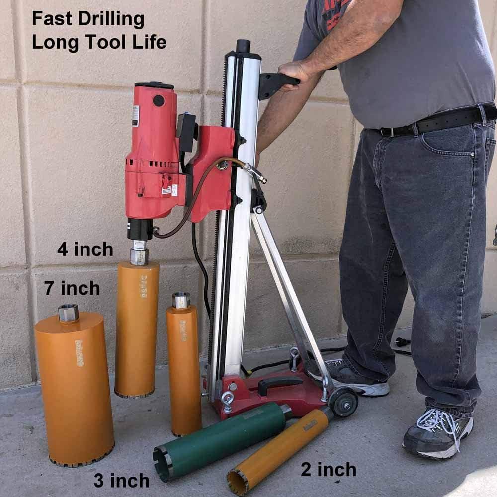 Diamond Turbo Core Drill Bits for Concrete Drilling Archer PRO 5 in