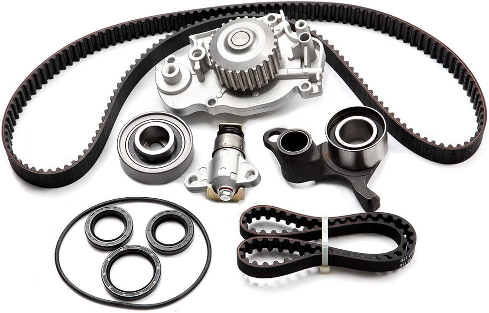TUPARTS Timing Belt Kit with Water Pump Tensioner Bearing Replacement for 1993-2001 Honda Prelude