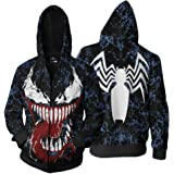 Movie Venom Hoodie Cosplay 3d Print Zipper Hoody Hoodies For Adult Men Women Sweatshirts Fashion Clothes New Arrival Convenient To Cook Men's Clothing