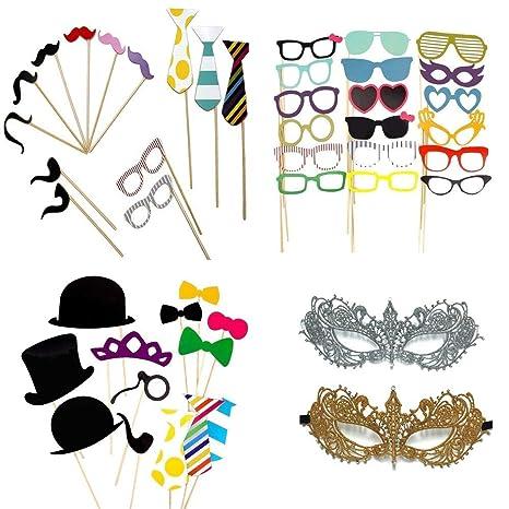 Esponja Photo Booth Props máscaras 60 Piezas para cumpleaños ...