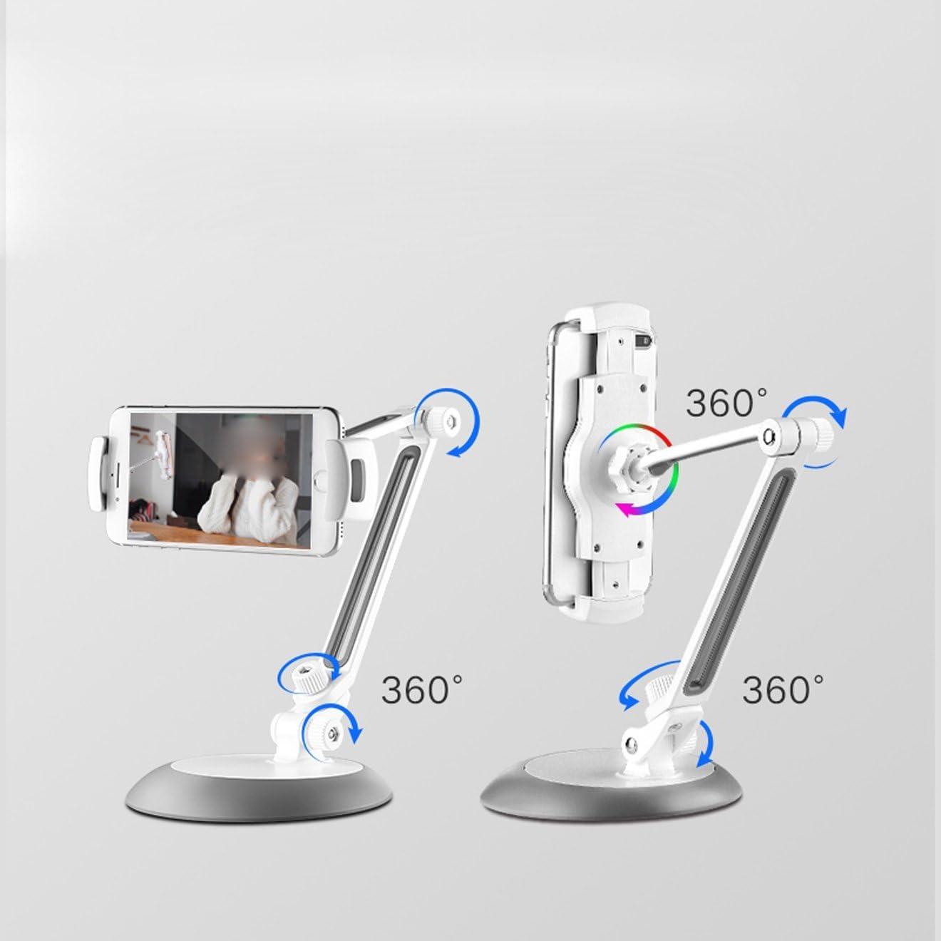 JUIANG Foldable Telescopic Mobile Phone Stand Holder Portable Tabletop Desktop Cellphone Holder Mount Bracket for Smart Phones