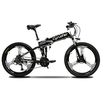 68e15b5f768 Cyrusher XF770 Electric Bike 48V 500W Men Folding Ebike 21 Speeds  Mountain&Road Bicycle with 26inch Tire