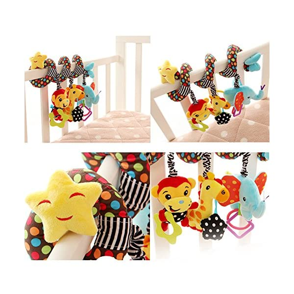 Infant Baby Spiral Plush Toys for Crib Bed Stroller willway Baby Hanging Toys