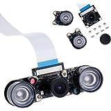 Zacro Módulo de Cámara con Sensor Cámara de Vídeo de HD Soporte Visión Nocturna para Raspberry Pi 3 Modelo B B + A + RPi 2 1 Cámara SC15