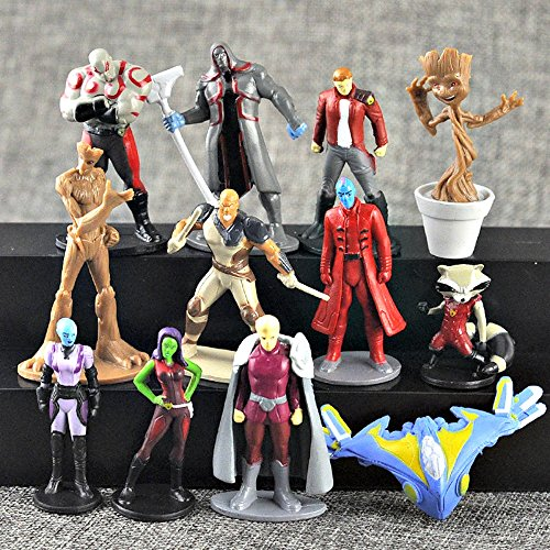 Marvel Guardians of the Galaxy Vol.2 Action Figures 12 pcs/set Dancing Groot Rocket Raccoon Toys Cake Topper by ToysOutlet_USA