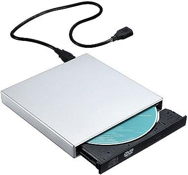 TOPELEK - Grabadora de CD y Lector de CD/DVD, Externa Portátil USB CD, Quemador Drive con Cable de Datos y de Alimentación para Windows (No Windows 98/SE), Mac OS, Plata: Amazon.es: Electrónica