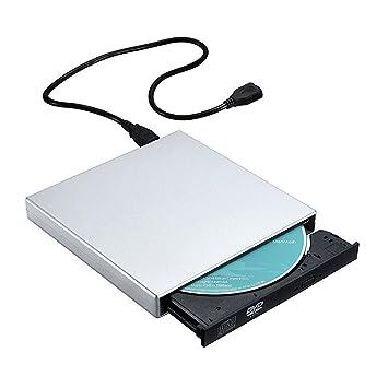 TOPELEK - Grabadora de CD y Lector de CD/DVD, Externa Portátil USB CD, Quemador Drive con Cable de Datos y de Alimentación para Windows (No Windows ...