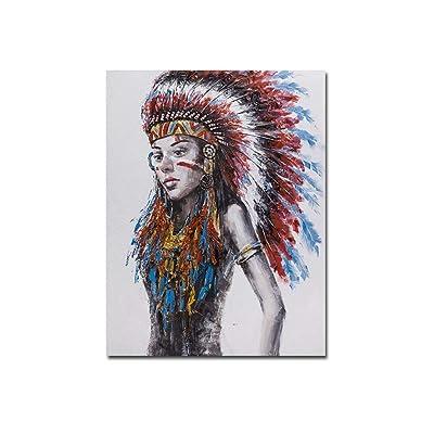bienddyicho Arte de Pintura Colgante Moderno Pintado para la decoración de Fondo Colgante de Pared PH-06164 -Negro: Juguetes y juegos