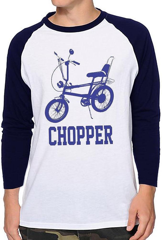 Raleigh Chopper Raglan Baseball Shirt, Navy Blue, Medium
