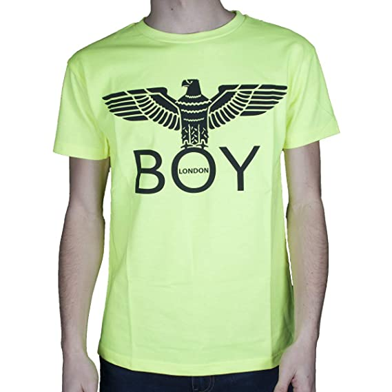 the best attitude 70b68 e9ca8 BOY London T-Shirt Uomo Giallo Fluo girocollo Stampa con ...