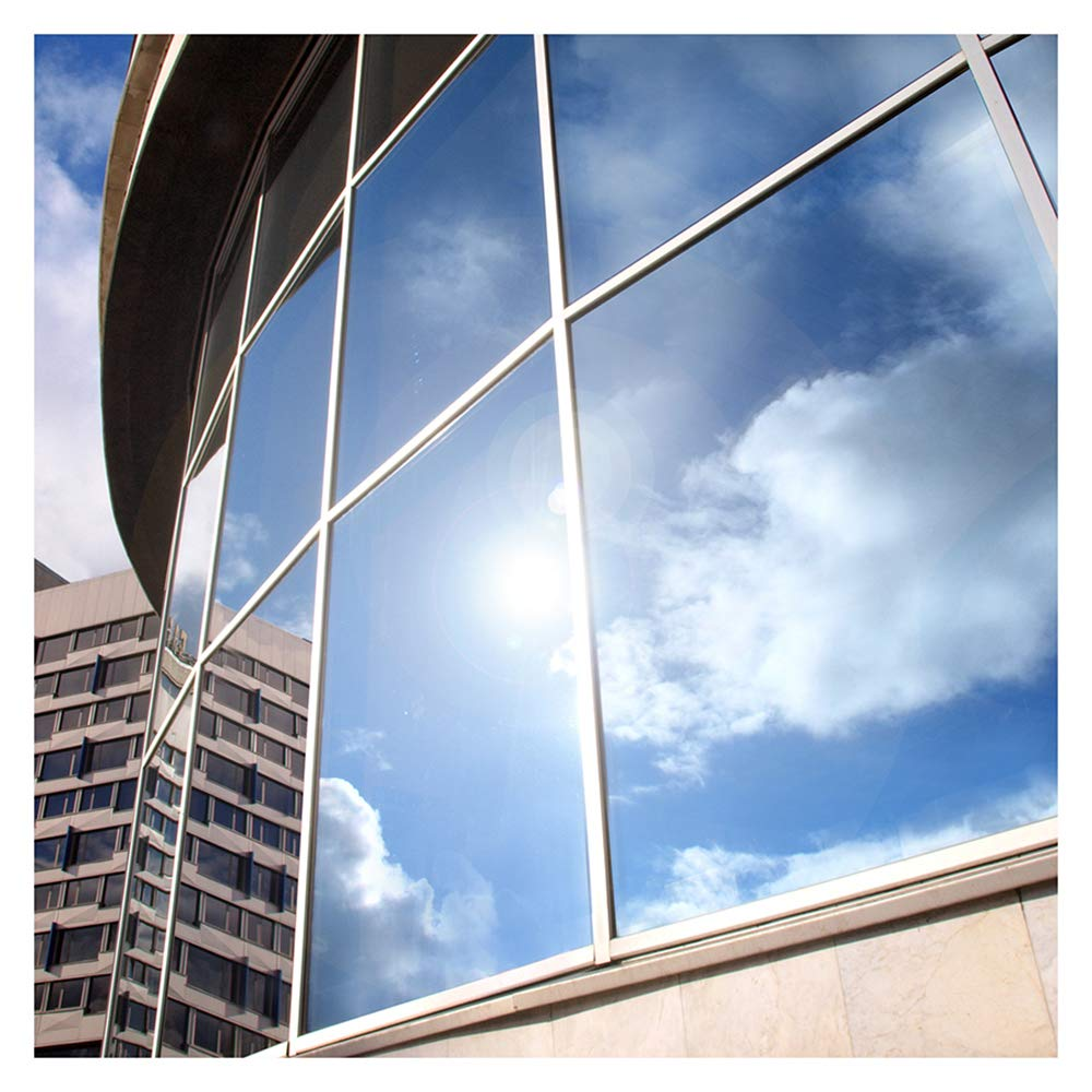 BDF EXS15 Exterior Window Film Privacy and Sun Control Silver 15, Dark - 48in X 50ft