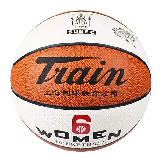 Sxuefang Material de PU No. 6 de Baloncesto Femenino, Streetball ...