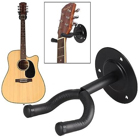 4 x soportes de soporte para guitarra pantalla perchas de pared de metal gancho colgador, percha. Fácil instalación, eléctrica ...