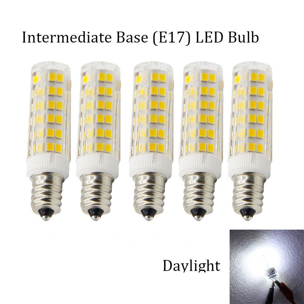 Lava lamp near me - Ashialight Dimmable E17 Led Bulb Daylight 40 Watt Intermediate Screw E17 Base Bulb Ac 110v 130v Replaces T4 T7 T8 S11 Bulb For Ceiling Fan Lava Lamps
