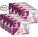 Cheap PACK OF 8 – WHISKAS PURRFECTLY Fish Variety Pack Wet Cat Food, Featuring Salmon 3 Ounces (10 Count)