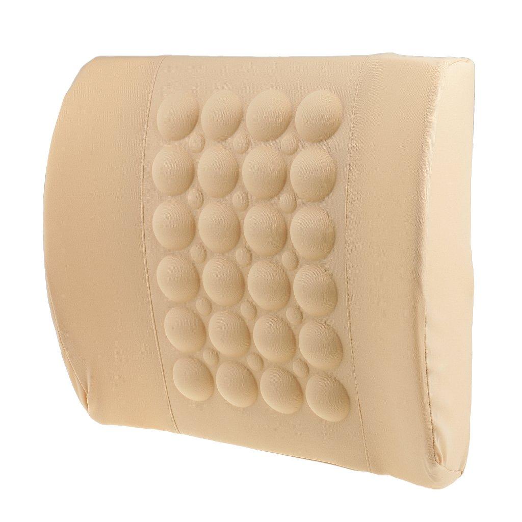 Sharplace Massaggiatore Sedile Vibrazione Ridurre Stess Schiena Lombalgia Universale Per Casa Auto - Nero