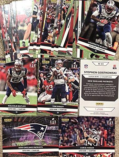 2016 Panini Instant NFL Football New England Patriots Super Bowl LI Champions 36 Card Team Set! - Tom Brady, Chris Hogan and more