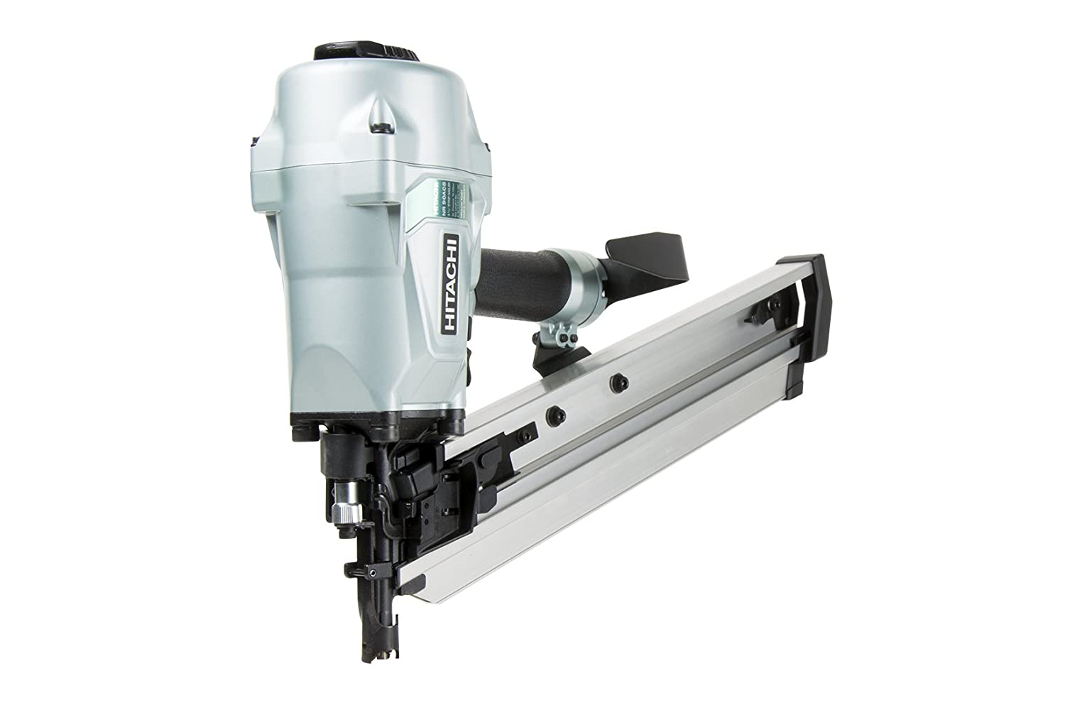 Hitachi NR90AC5 Framing Nailer for LVL 2 3 8 to 3 1 2 Plastic Collated Nails 0.162 Full Head 21 Degrees