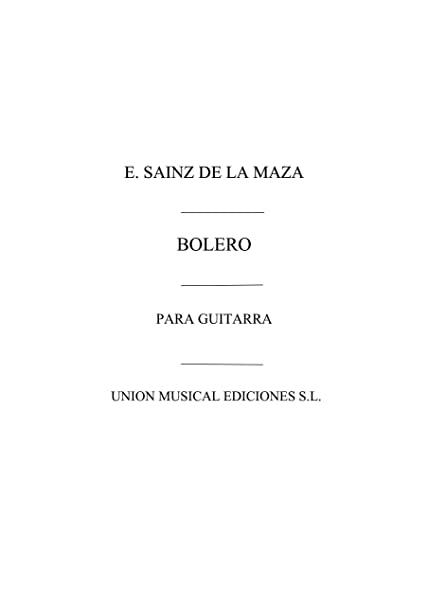 Bolero - Guitar - Book: Amazon.es: Instrumentos musicales