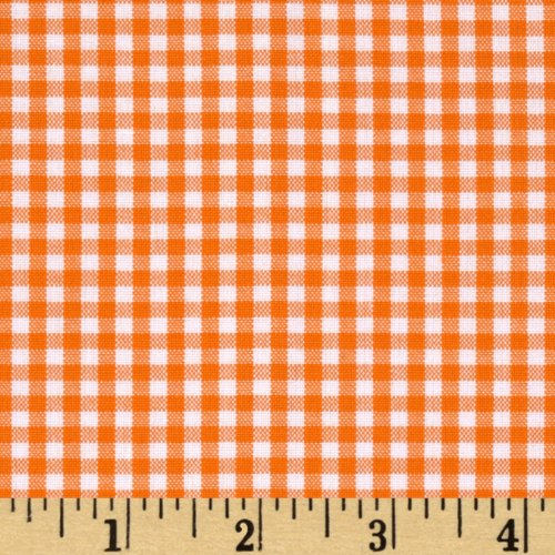 (Robert Kaufman Kaufman Woven 1/8in Carolina Gingham Orange Fabric by The Yard,)