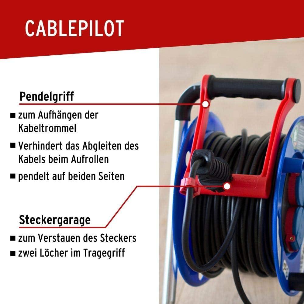 Kabeltrommel Stromkabel Baustellen 40m Gummi H05RR-F 3G1,5 IP44 höchste Qualität