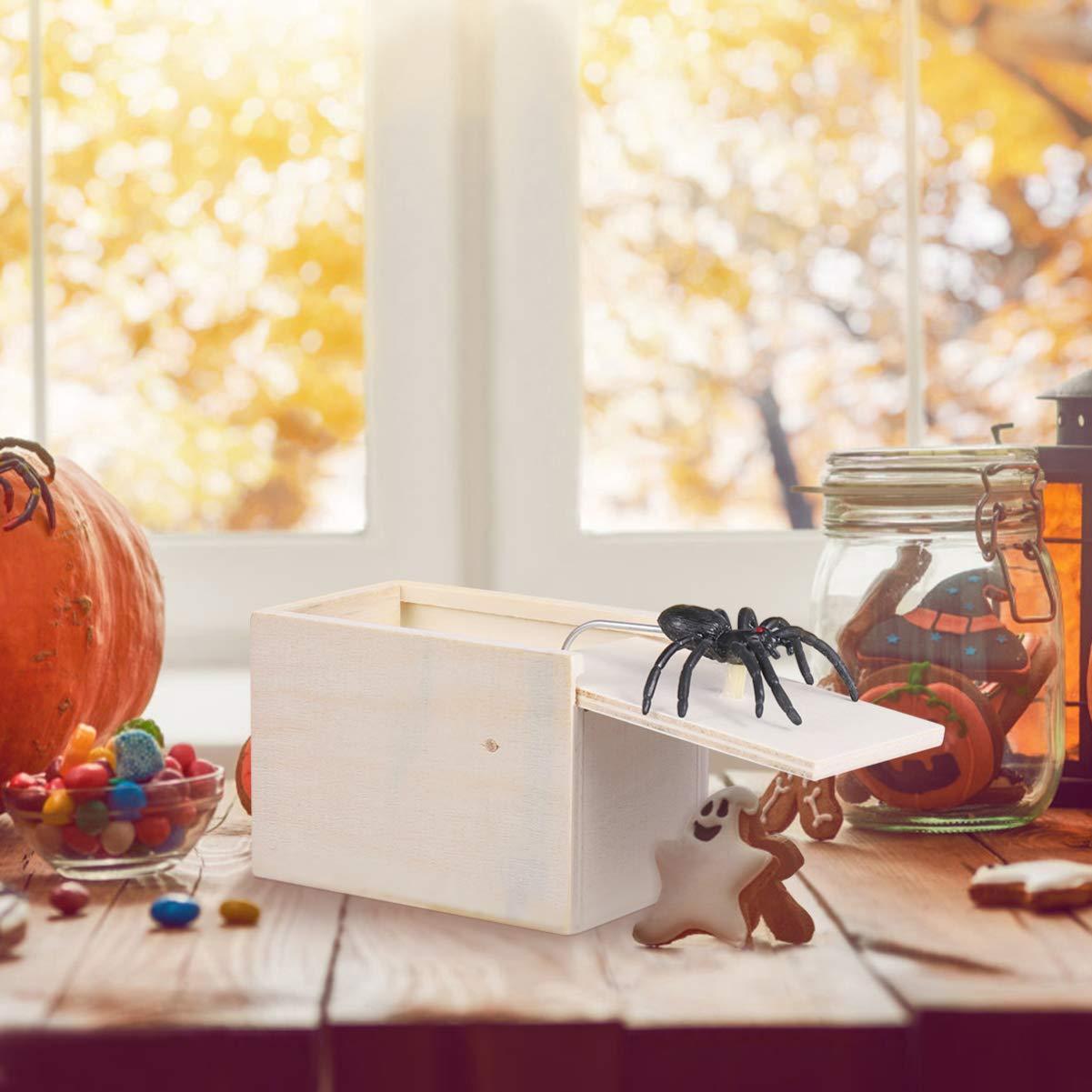 Toyvian Spinne Holzkiste Streich erschrecken Box Spinne /Überraschung lustige Festival Geschenke Party Supplies f/ür Erwachsene Kinder Kinder