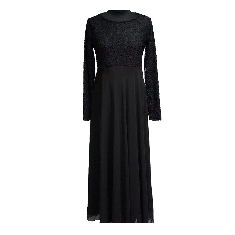 Rose Lace Dress Designer Chiffon Maxi Abaya Jilbab Kaftan Abaya Burka