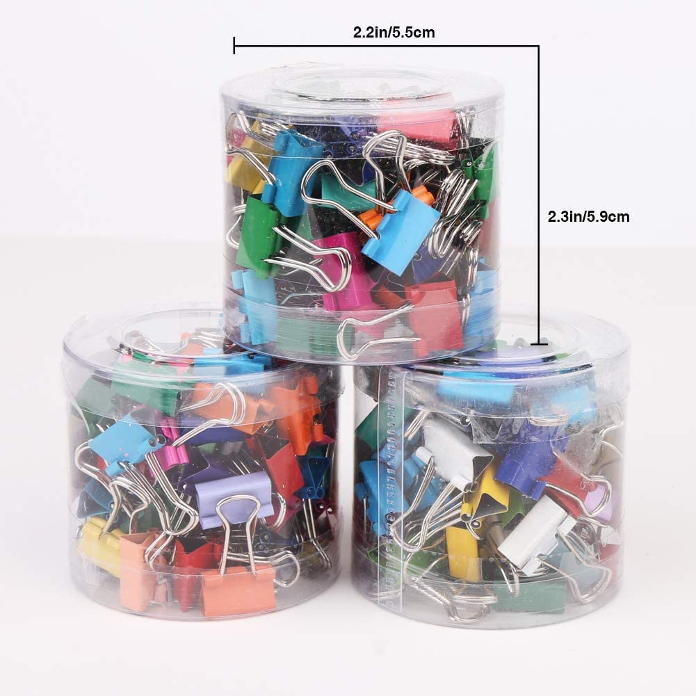 Manualidades Hogar Fotos Colores Vegena 180 Pcs Foldback Binder Clips Clip de Carpeta de Metal Pinza Pinzas de Papel para Oficina