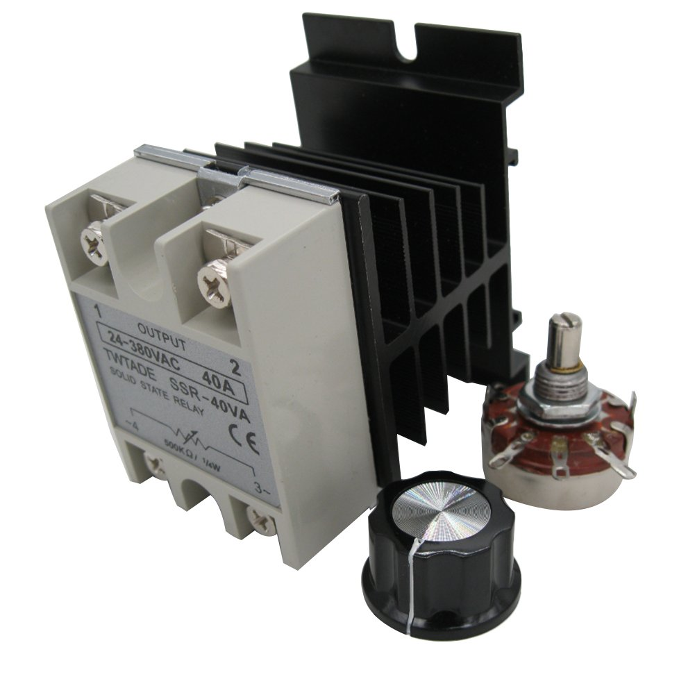 Twtade Ssr 40va 500k Ohm 1 4w To 380vac 40a Single Phase Solid State Relay Voltage Resistance