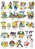 Pokemon 1Set Kuchen Party steht auf, essbares Wafer Karte X32Stücke