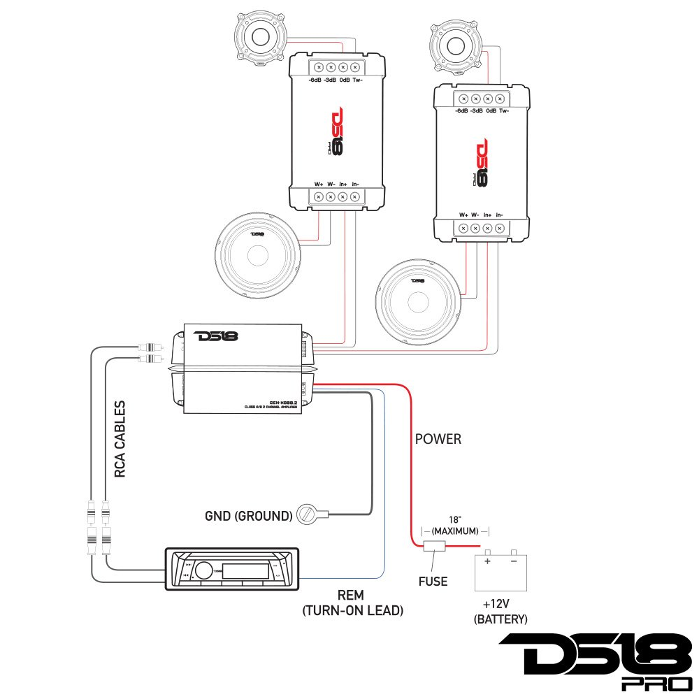 Ds18 Pro Cfx Two Way Passive Crossover 300w Car Audio Addition Powered Subwoofer Wiring Diagram On 8 Pin Tweeter Mid Range Speaker 2 Pack Electronics