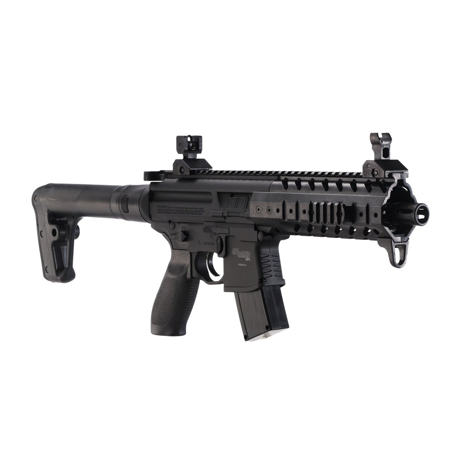 Sig Sauer MPX .177 CAL Co2 Powered 88 GR Air Rifle (30 Rounds), Black