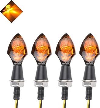4pcs Arrow Universal Bike Motorcycle Turn Signal Indicator Amber LED Light Lamp