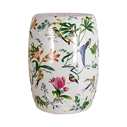 Excellent Amazon Com Chinese Floral And Bird Porcelain Garden Stool Gamerscity Chair Design For Home Gamerscityorg
