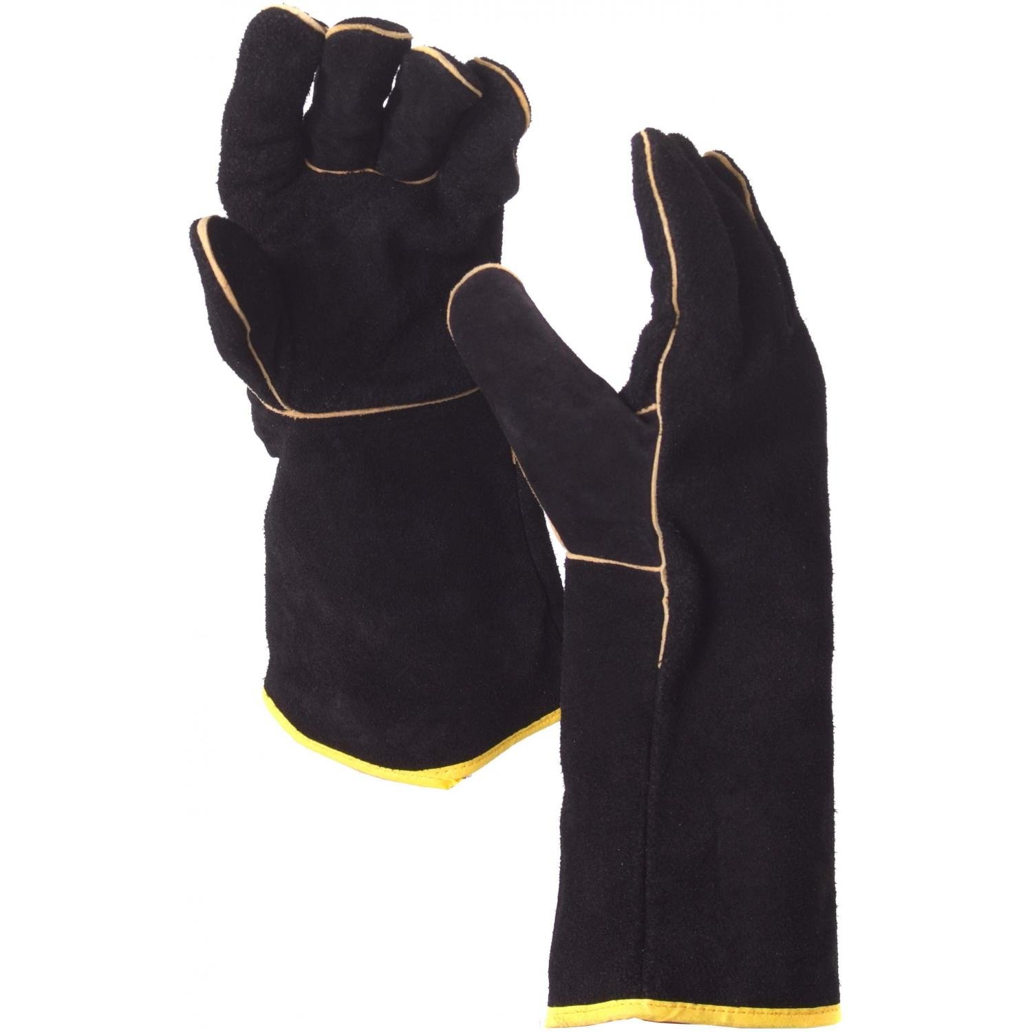 Leather work gloves ireland - Gallery Of Grillpro Black Leather Bbq Gloves