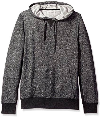 2(X)IST Men's Terry Hooded Pullover, Black Heather, Large