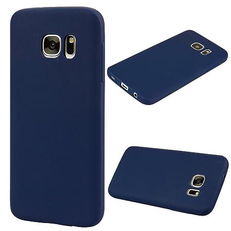 cuzz Funda para Samsung Galaxy S7 Edge+{Protector de Pantalla de Vidrio Templado} Carcasa Silicona Suave Gel Rasguño y Resistente Teléfono Móvil ...