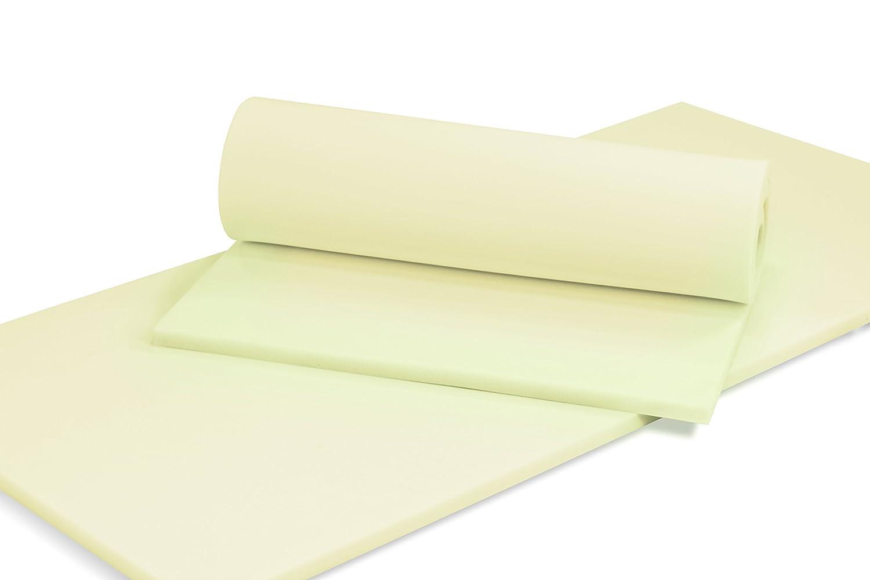 MSS® Schaumstoffplatte Polster Auflage Topper - 140 x 200 cm - 12 cm - RG27 45
